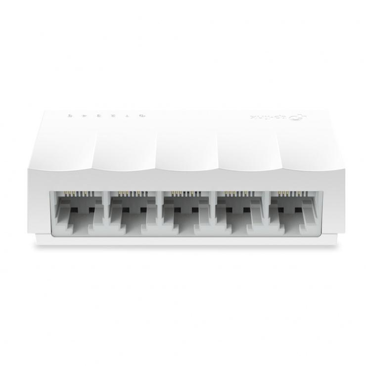 Imagine Switch Desktop LiteWave 5 porturi 10/100 Mbps Alb, TP-LINK LS1005