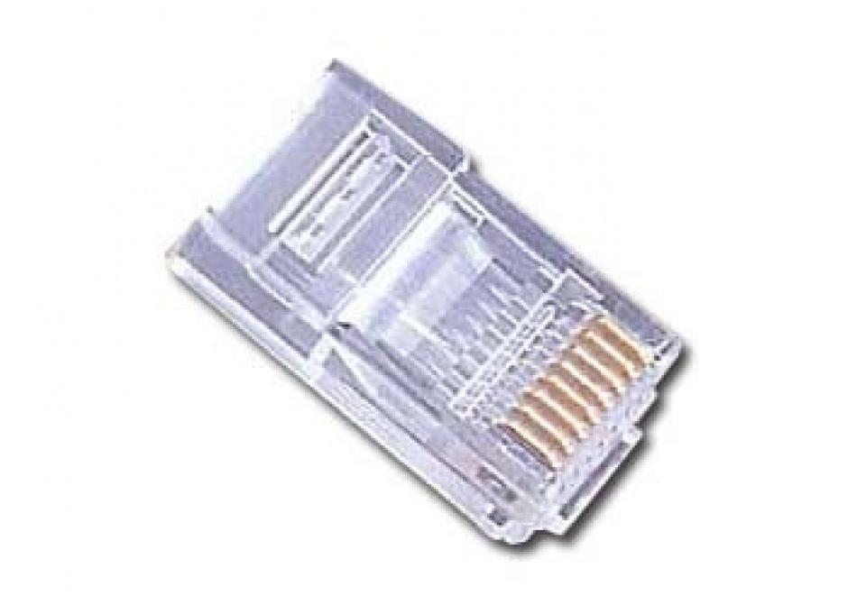 Imagine Set 10 conectori de retea UTP RJ45 cat 5e, Gembird PLUG3UP6/10