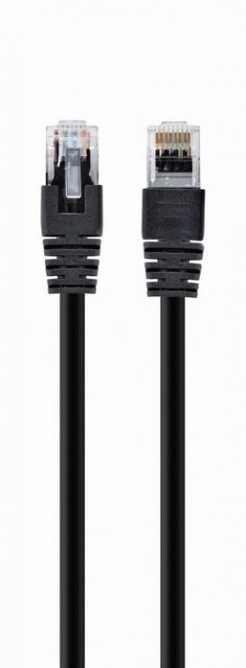 Imagine Cablu de retea RJ45 0.25m cat 6 UTP Negru, Gembird PP6U-0.25M/BK