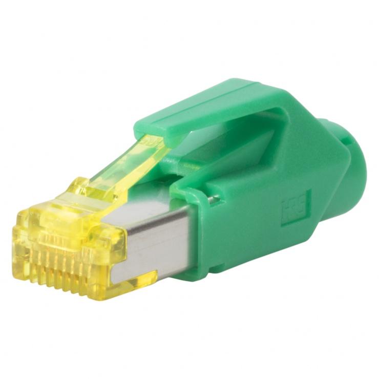 Imagine Conector de retea RJ45 cat. 6A Verde, RJ45C6A-GN
