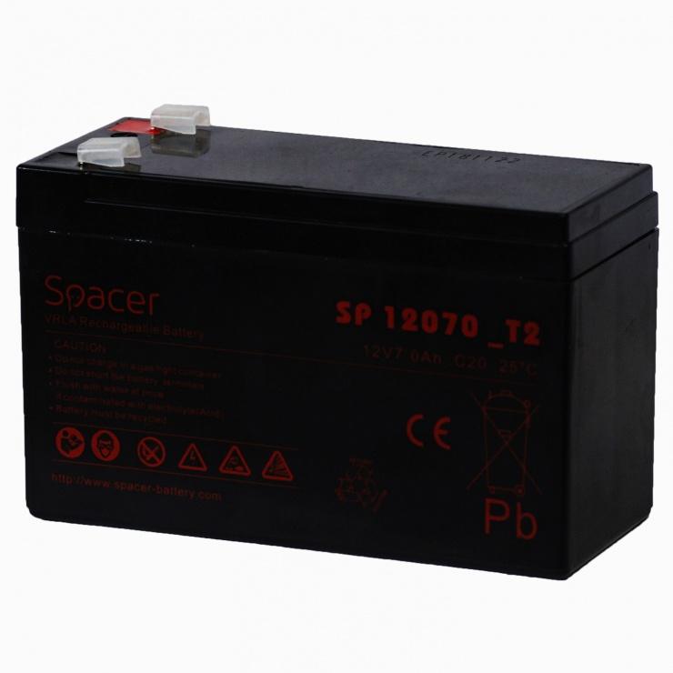 Imagine Acumulator UPS 12V/7Ah, Spacer SP-BAT-12V7AH