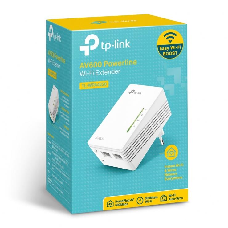 Imagine Powerline Wi-Fi AV600 300Mbps, TP-LINK TL-WPA4220