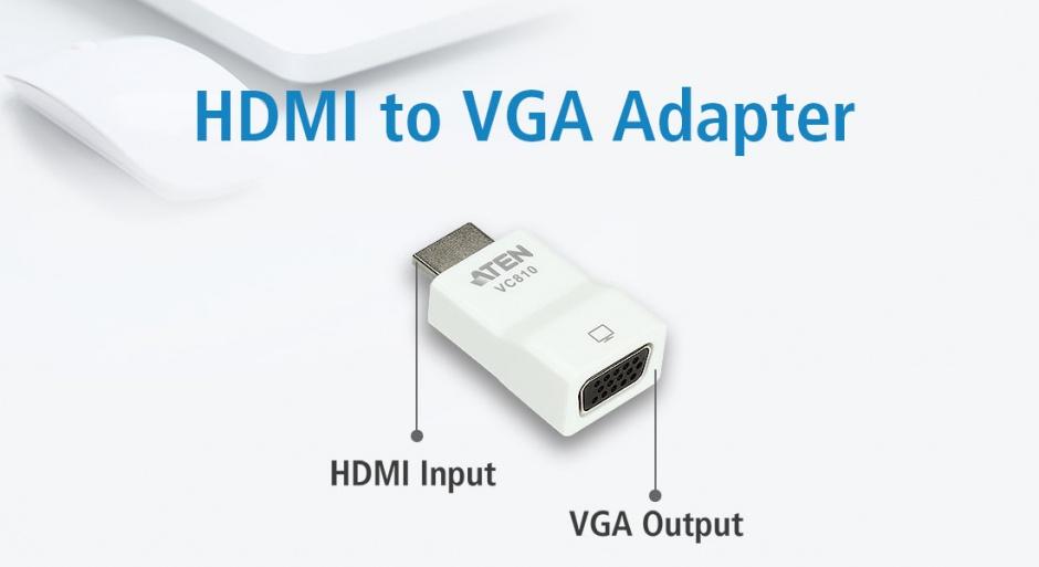 Imagine Adaptor HDMI la VGA T-M, ATEN VC810
