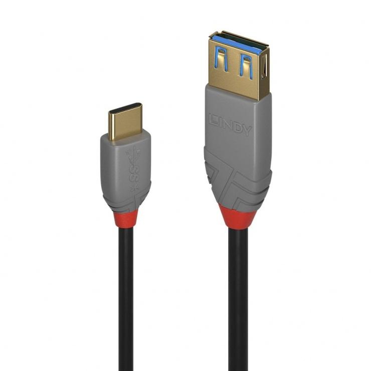 Imagine Adaptor USB 3.1-C la USB-A T-M 0.15m Anthra Line, Lindy L36895