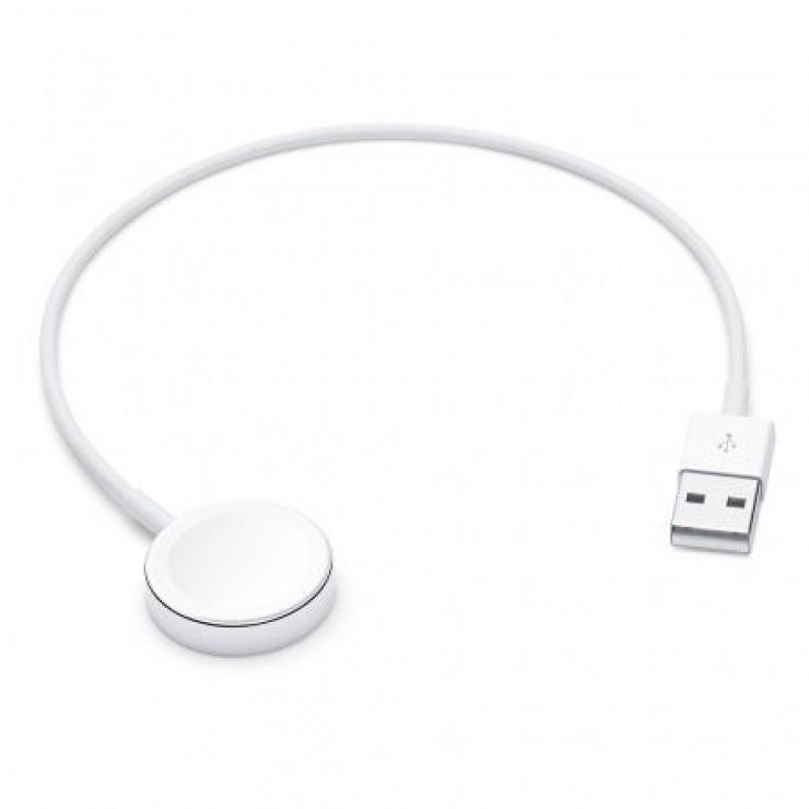 Imagine Cablu de incarcare USB-A pentru Apple Watch 0.3m Alb, Apple MLLA2ZM/A