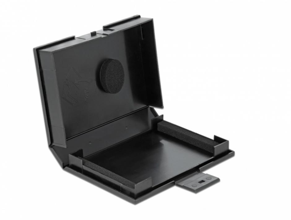 """Imagine Carcasa de protectie pentru HDD / SSD 3.5"""" Negru, Delock 18372"""