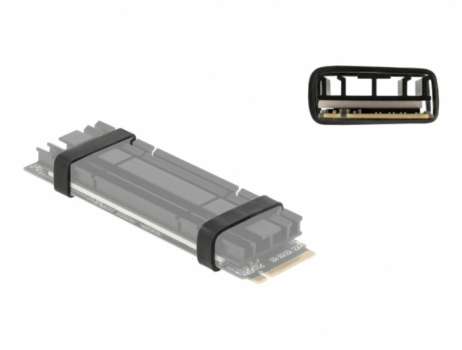 Imagine Set 10 inele cauciuc pentru cooler M.2 SSD, Delock 18409