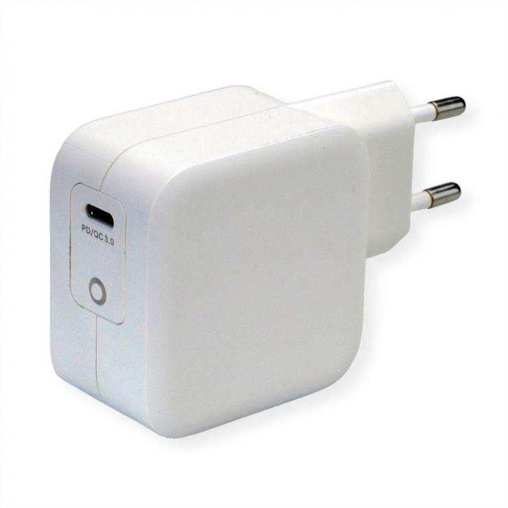 Imagine Incarcator priza 1 x USB-C Quick Charge 3.0 PD 61W, Roline 19.11.1018