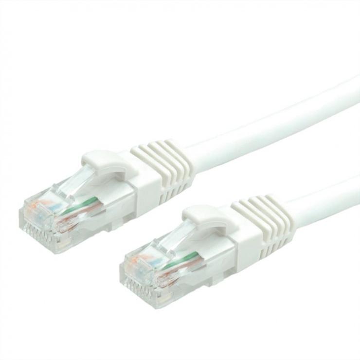 Imagine Cablu de retea RJ45 cat. 6A UTP 15m Alb, Value 21.99.1478