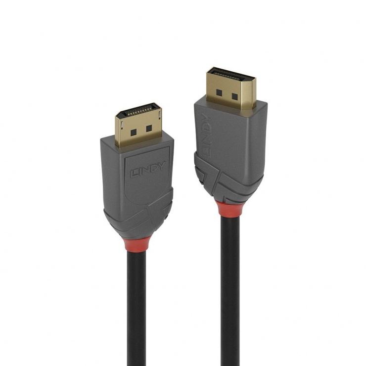 Imagine Cablu Displayport 8K / 4K@160Hz v1.4 T-T 0.5m Anthra Line, Lindy L36480