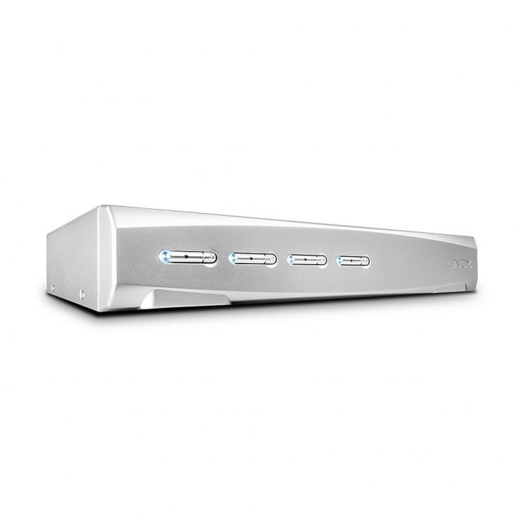 Imagine Switch KVM 4 porturi DisplayPort 1.2, USB 2.0 & Audio, Lindy L39305
