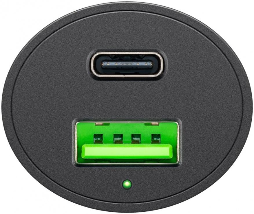 Imagine Incarcator auto 1 x USB-A + 1 x USB-C 48W/3A, Goobay G39908