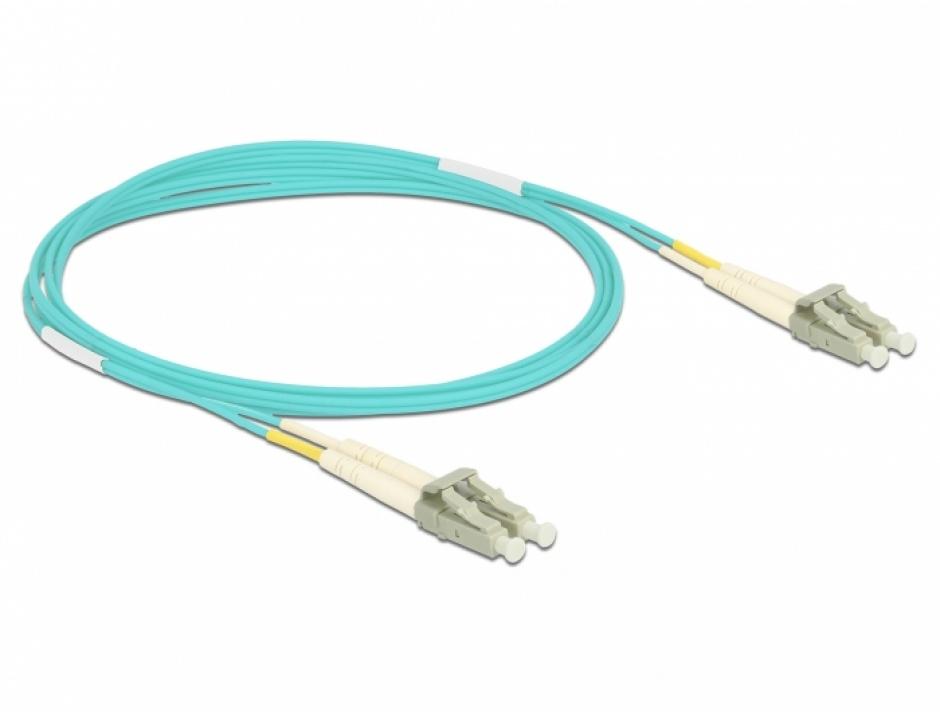 Imagine Cablu fibra optica LC- LC Multi-mode OM3 2m, Delock 86559