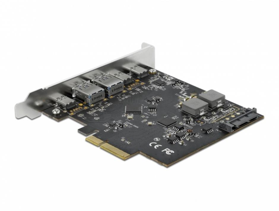 Imagine PCI Express x4 cu 3 x USB 3.2 Type-C + 2 x USB-A, Delock 89074