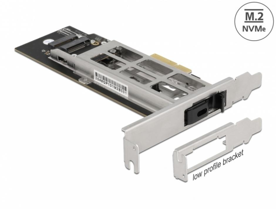 Imagine Mobile Rack PCI Express cu 1 x M.2 NVMe SSD, Delock 47003