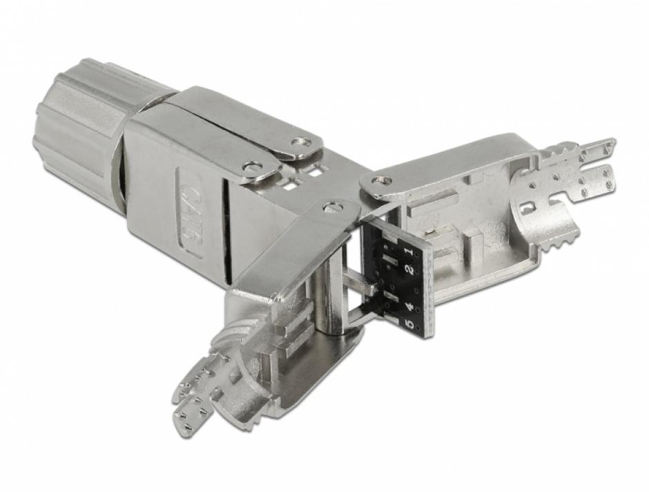 Imagine Cupla pentru cablu de retea Cat.6 STP toolfree, Delock 86975