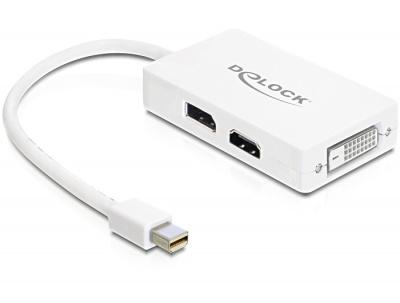 Imagine Adaptor mini Displayport la Displayport / HDMI / DVI 24 pini, Delock 61768