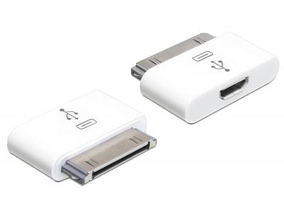 Imagine Adaptor mobil pentru iPhone / iPad la micro USB B, Delock 65357