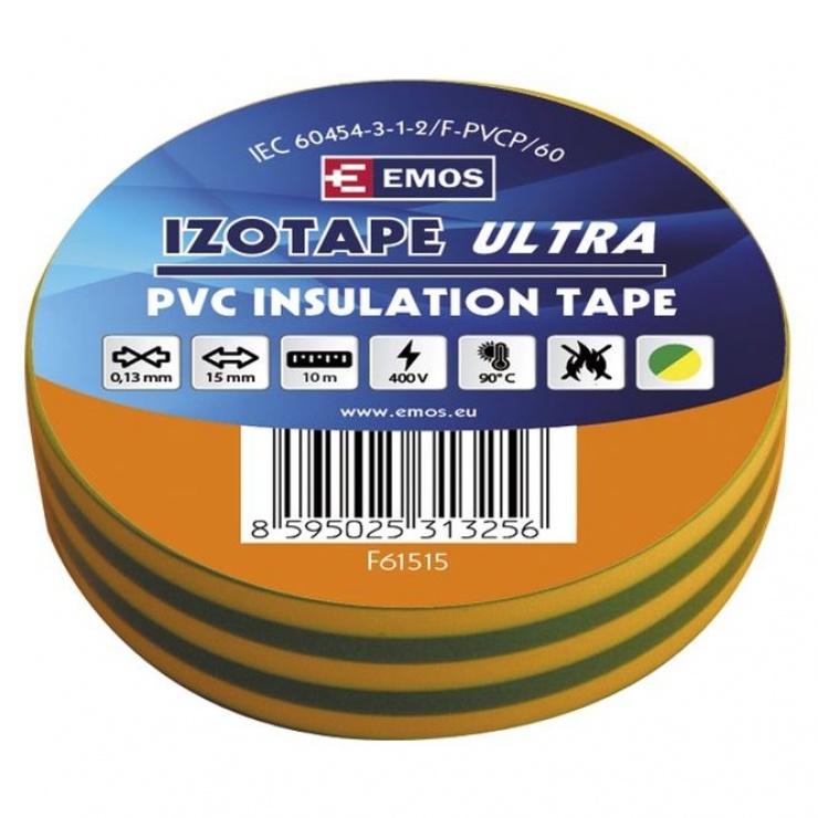 Imagine Banda izolatoare  PVC 15mm/10m Galben/Verde, ZVPEP07