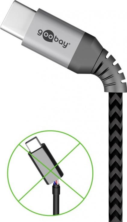 Imagine Cablu USB 2.0 type C la type C T-T 3A 1m, Goobay G49302