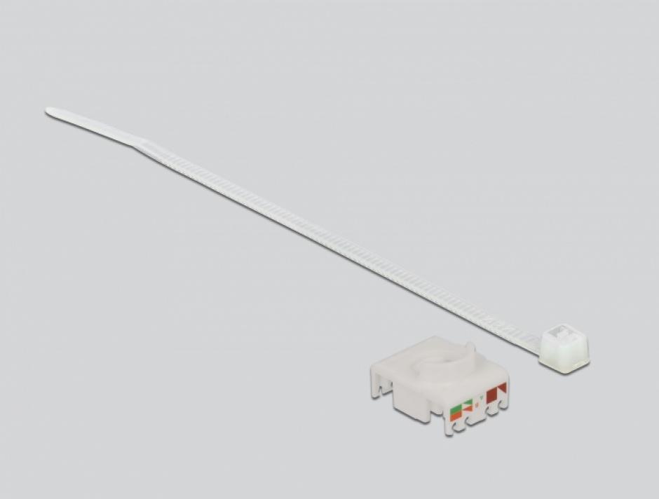 Imagine Conector de retea RJ45 Cat.6A la LSA cu capac protectie si waterproof, Delock 86698