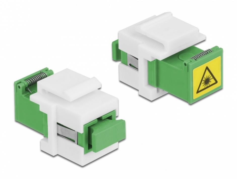 Imagine Modul keystone SC Simplex M-M cu protectie laser flip in interior, Delock 86831