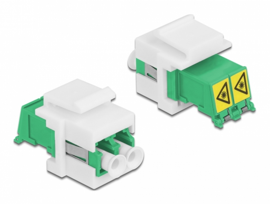 Imagine Modul keystone LC Duplex M-M cu protectie laser flip in interior, Delock 86833