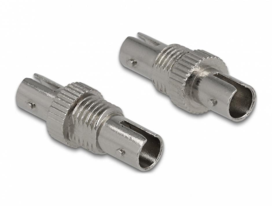 Imagine Cupla fibra optica ST Simplex M-M metalica, Delock 86835