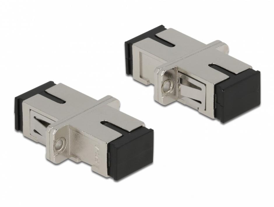 Imagine Cupla fibra optica SC Simplex - SC Simplex Single M-M mode metal, Delock 86872