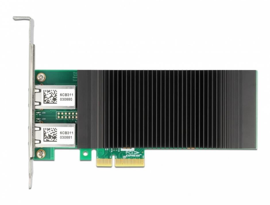 Imagine PCI Express x4 cu 2 x RJ45 Gigabit LAN PoE+ Intel i350, Delock 88500