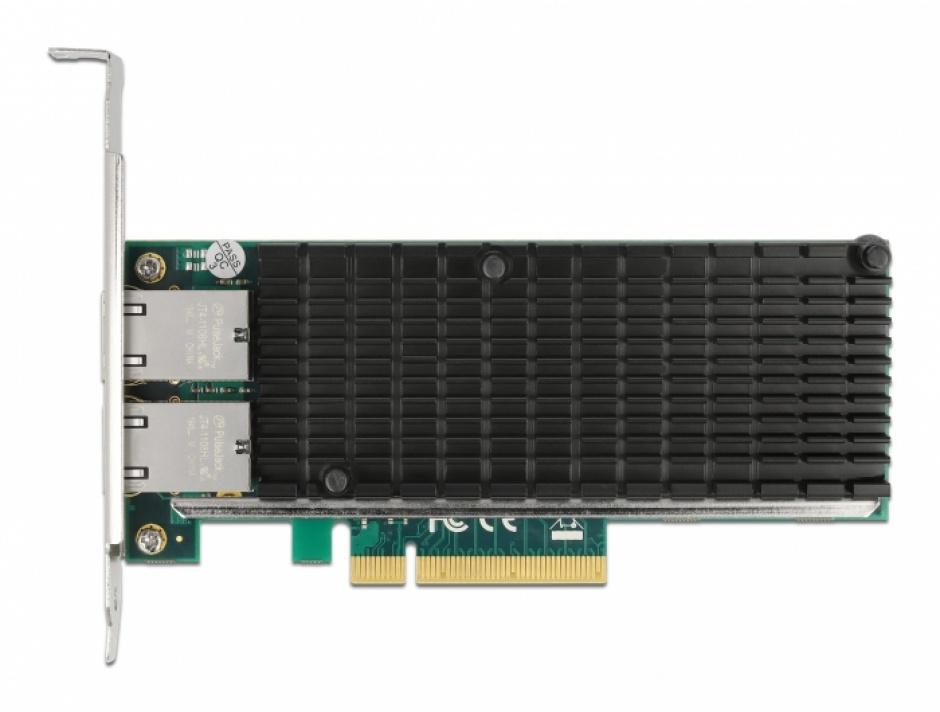 Imagine PCI Express x8 la 2 x RJ45 LAN 10 Gigabit Intel X540, Delock 88505