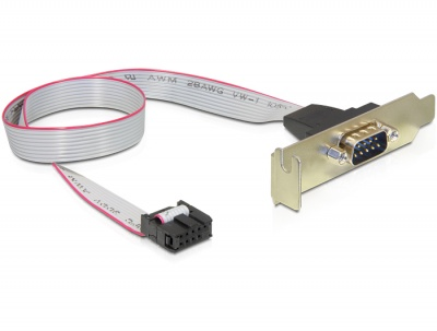 Imagine Bracket serial 1 X DB9 low profile 1:1, Delock 89300