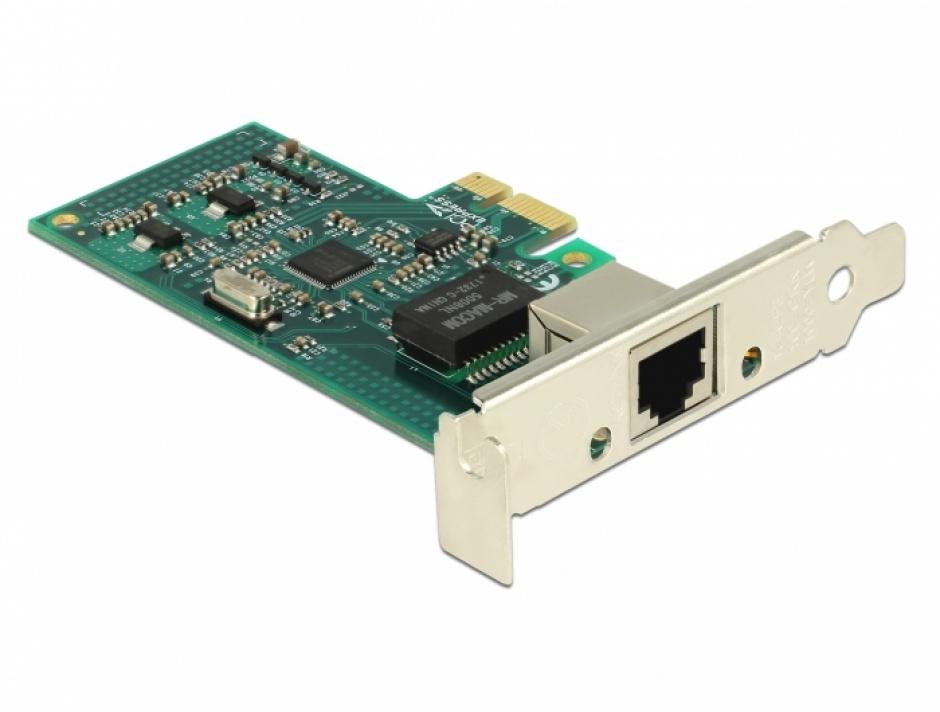 Imagine PCI Express la 1 x Gigabit LAN chipset Intel 82574L, Delock 89943