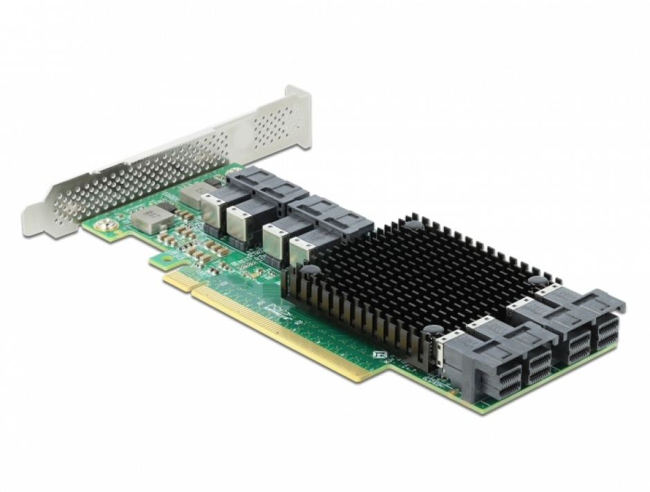 Imagine PCI Express cu 8 porturi interne SFF-8643 NVMe LPFF, Delock 90504