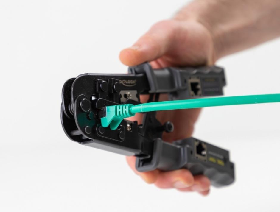 Imagine Cleste de sertizat/dezizolat + tester RJ45/RJ12/RJ11/RJ10, Delock 90510