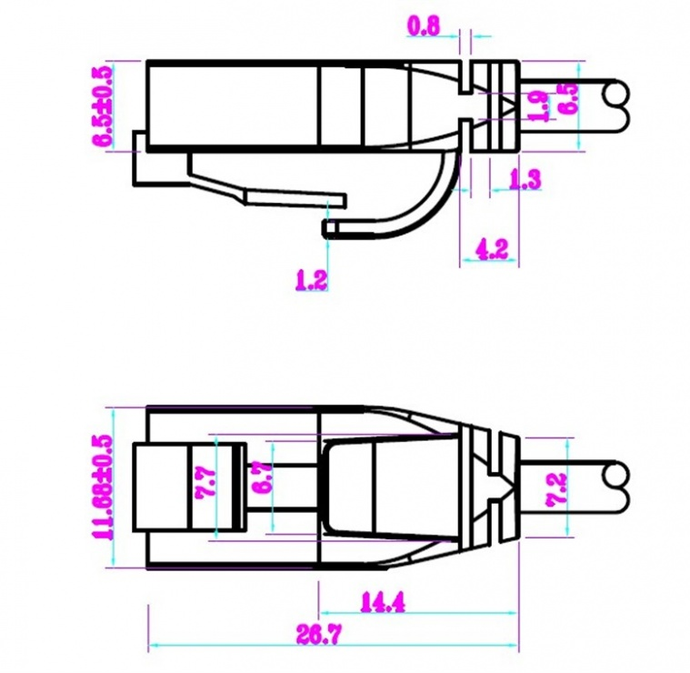 Imagine Cablu de retea RJ45 UTP cat 6 Slim 10m Negru, Goobay 93730