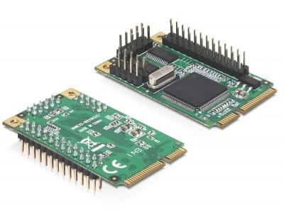 Imagine Mini PCIe I/O PCIe full size 2 x serial RS-232, 1 x parallel, Delock 95232-2