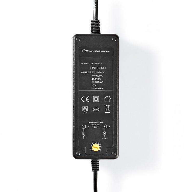 Imagine Alimentator universal 6 - 16V / 60W / 5A, Nedis ACPA116