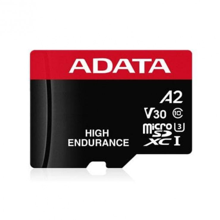 Imagine Card de memorie micro SDHC High Endurance 32Gb clasa 10 UHS-I U3, ADATA AUSDH32GUI3V30SHA2