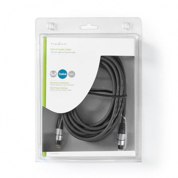 Imagine Cablu audio optic Toslink SPDIF 5m, Nedis CAGC25000AT50