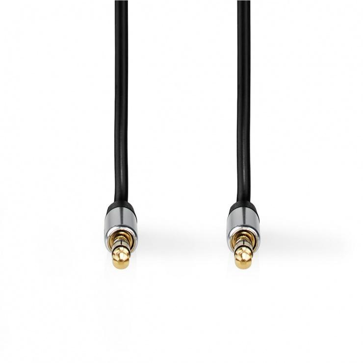 Imagine Cablu audio jack stereo 2.5mm la jack stereo 3.5mm 1m, Nedis CAGP21250BK10