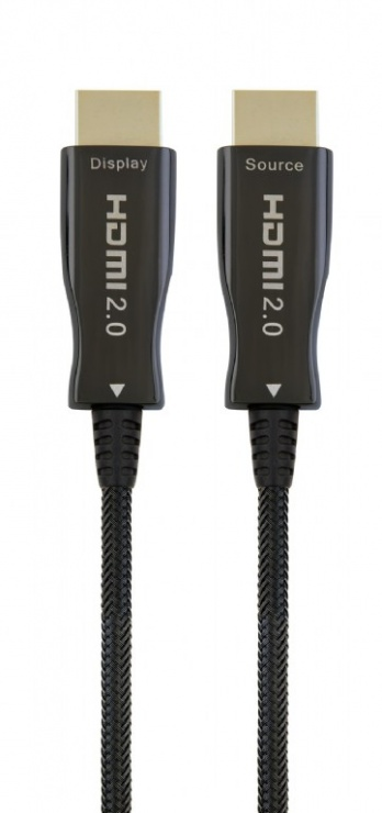 Imagine Cablu activ optic HDMI 4K@60Hz T-T 80m Negru, Gembird CCBP-HDMI-AOC-80M