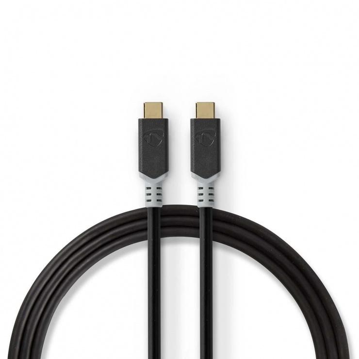 Imagine Cablu USB 3.2-C Gen 2 T-T 20Gb/s 5A/100W 2m, Nedis CCBW64020AT20