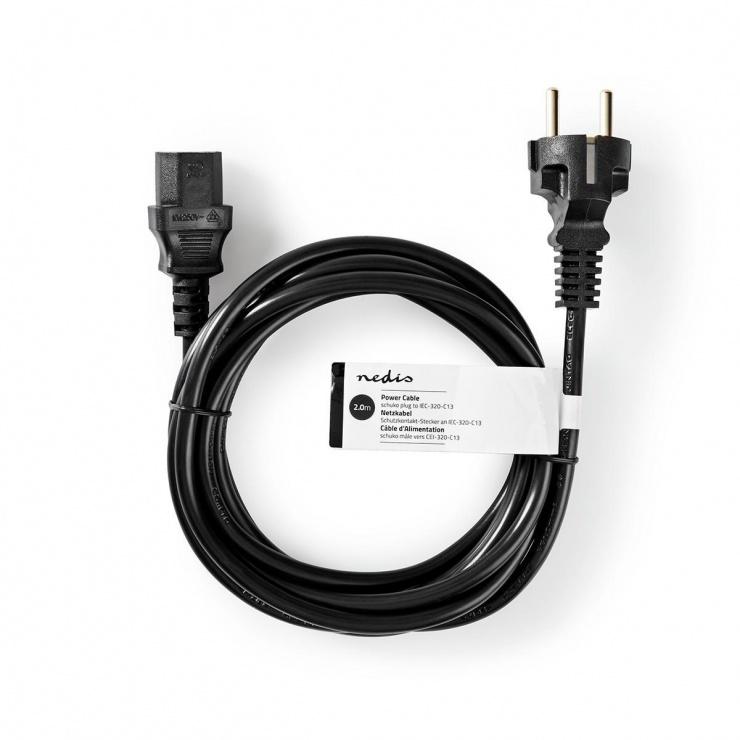 Imagine Cablu alimentare PC C13 10m, Nedis CEGP10000BK100