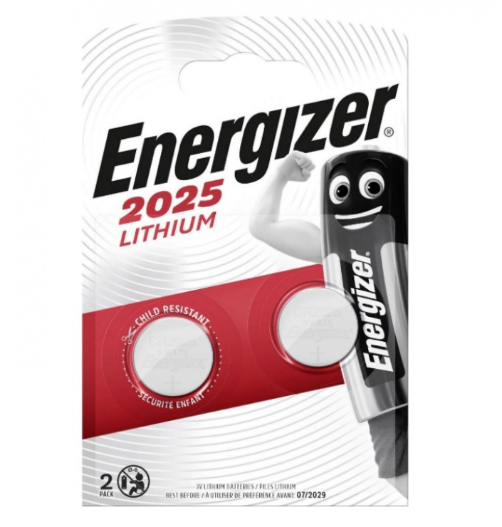 Imagine Set 2 baterii CR2025, Energizer 638708