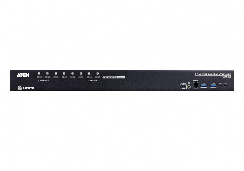 Imagine Switch KVM 8 porturi USB 3.0 4K HDMI, ATEN CS18208