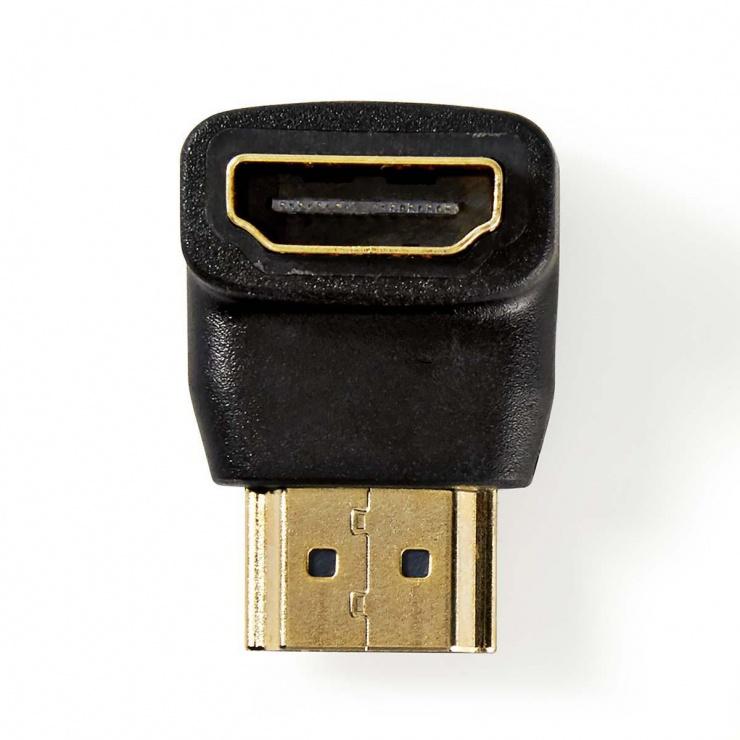 Imagine Adaptor HDMI T-M unghi 90 grade, Nedis CVGP34901BK