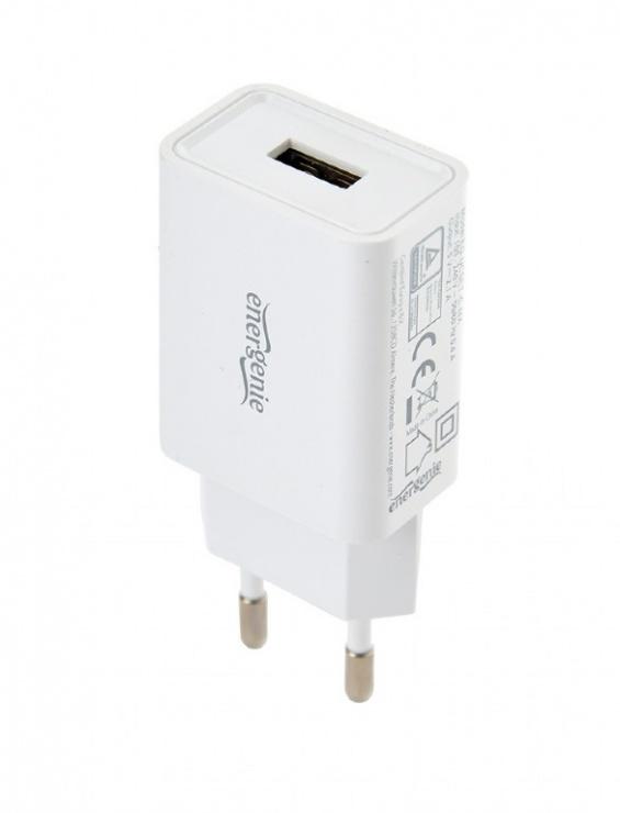 Imagine Incarcator priza 1 x USB-A 5V / 2.1A + cablu USB Lightning, Gembird EG-UCSET-8P-MX