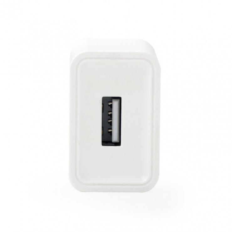 Imagine Incarcator priza 1 x USB-A 5V / 2.1A + cablu USB type C, Gembird EG-UCSET-C-MX
