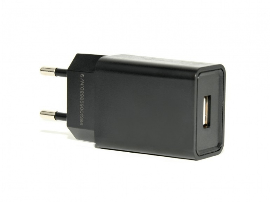Imagine Incarcator priza 1 x USB-A 5V / 2.1A + cablu USB type C, Gembird EG-UCSET-C-MX-Black